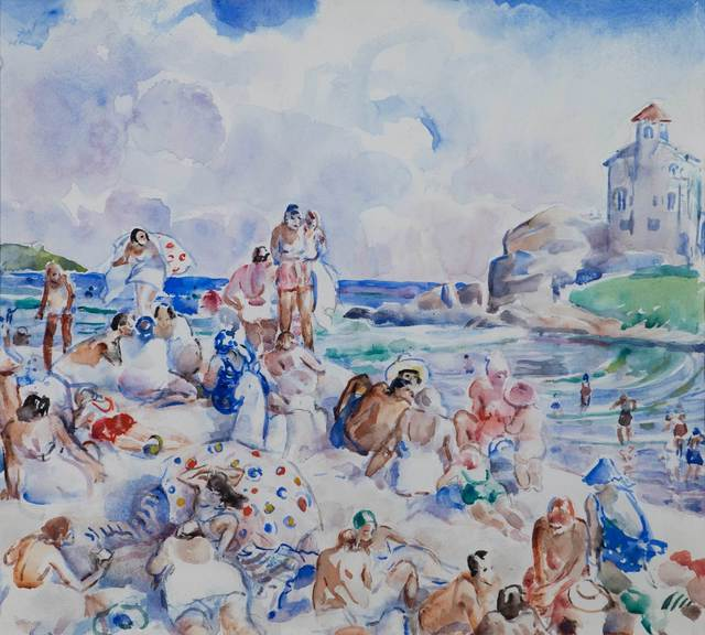 Martha Walter, 'At the Beach (possibly Bass Rocks, Gloucester)', 19th -20th Century, Vose Galleries