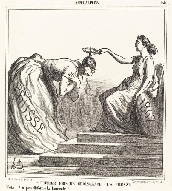 Honoré Daumier, 'Premier prix de croissance - La Prusse', 1867, National Gallery of Art, Washington, D.C.