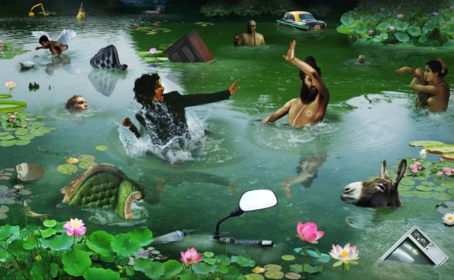 , 'Siesta at Hauz Khas Pond,' 2010, Gallery Espace