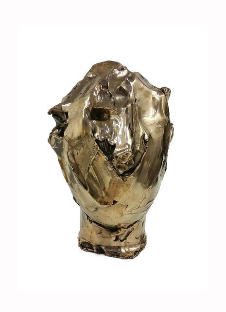 , 'Bronze head (gold patina) vb.b.006,' 2014, Lia Rumma