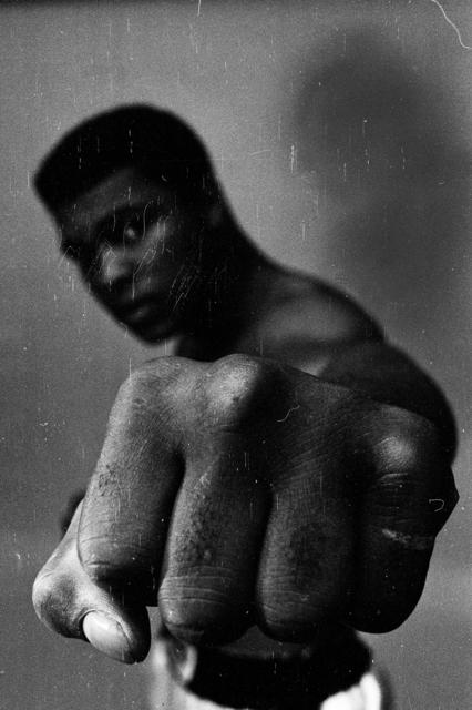 , 'Muhammad Ali Showing off his Left Fist,' 1966, CAMERA WORK