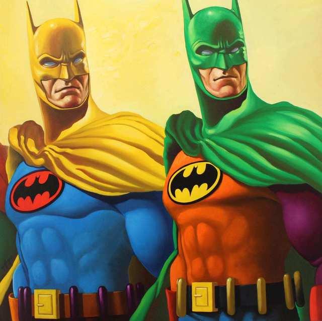 , 'Rainbow Batman, 2,' 2019, Bruce Lurie Gallery