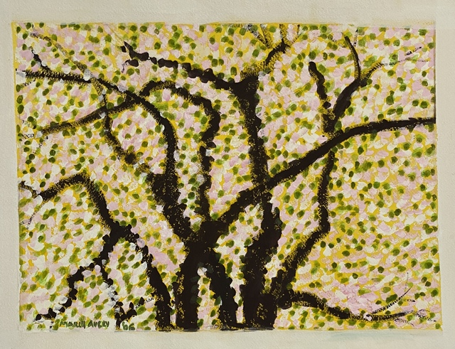 March Avery, 'Springtime', 2006, Drawing, Collage or other Work on Paper, Watercolor and gouache, Friends Seminary Benefit Auction