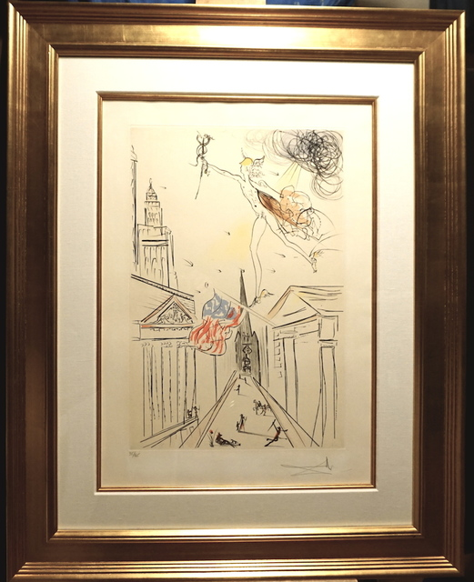Salvador Dalí, 'View of Wall Street )Color)', 1972, Fine Art Acquisitions