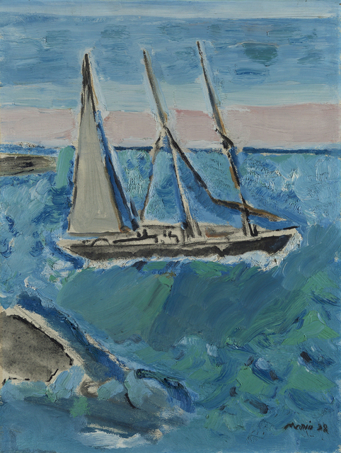 , 'Sail Boat and Sea, Maine,' 1938, Debra Force Fine Art