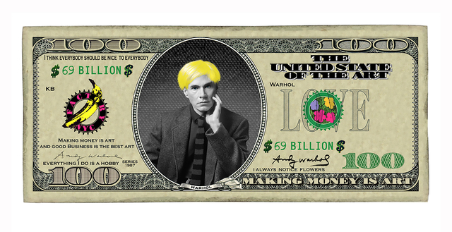 , '100 Dollar Andy,' 2018, The Untitled Space
