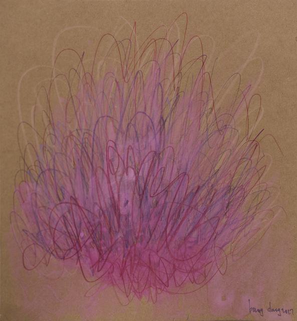 , 'Filling the Brown - Square 17, Pink | Purple Bloom,' 2017, Jen Mauldin Gallery