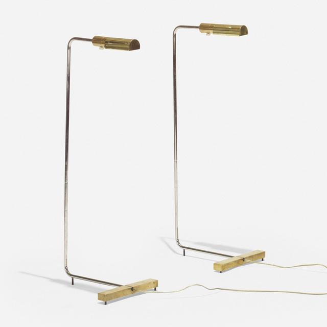 Cedric Hartman, 'floor lamps model 1UWV, pair', 1966, Design/Decorative Art, Brass, stainless steel, Rago/Wright