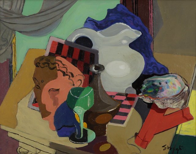 , 'Still Life with Abalone Shell,' ca. 1945, Heather James Fine Art