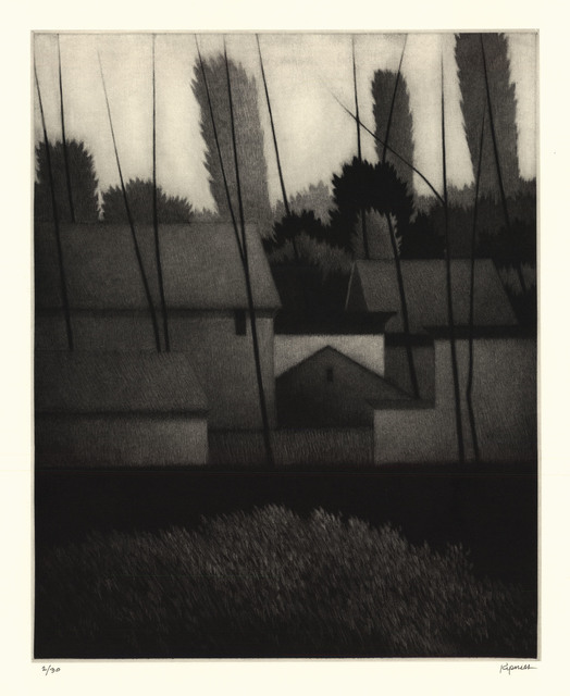 , 'At the edge of the village.,' 2014, The Old Print Shop, Inc.