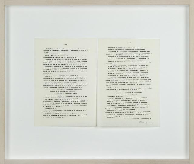 , 'Trascrizioni,' 1975, Galerija Gregor Podnar