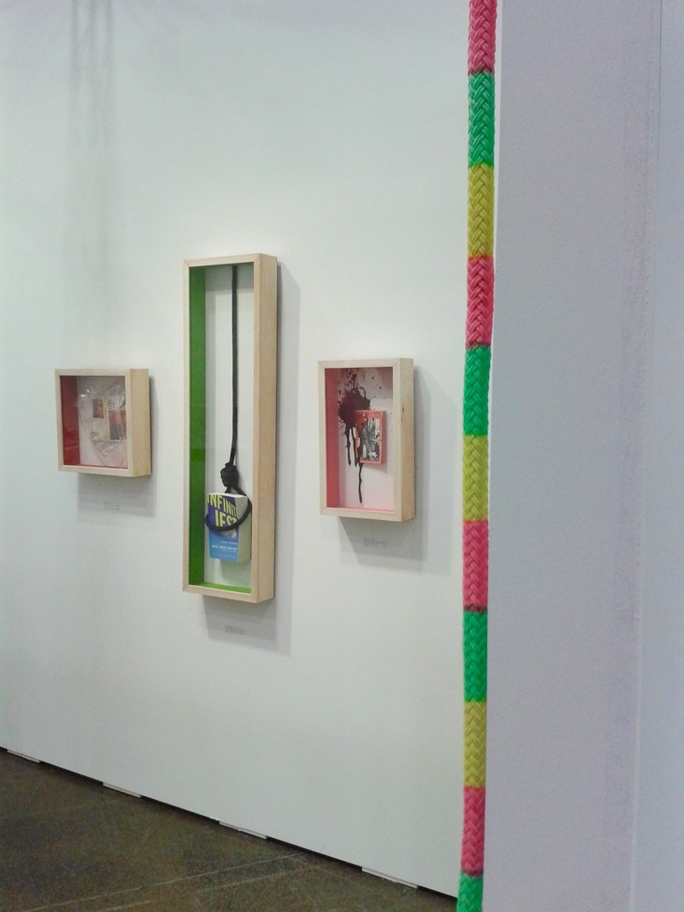 "Stevie Ellis installation, ""Inventor Line"" by Oscar Figueroa in foreground"