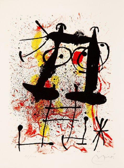 Joan Miró, 'Silence, from Hai-Ku', 1967, Heritage Auctions