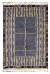 "Barbro Nilsson, '""Salerno blå"" rug,' designed 1948-woven 1952, Phillips: Design"