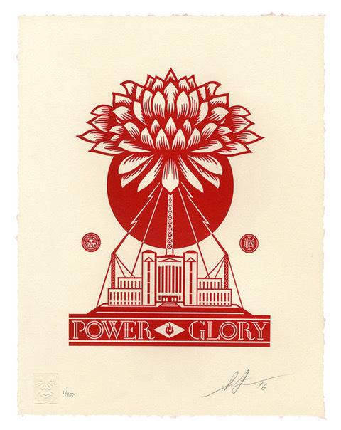 Shepard Fairey (OBEY), 'power and glory letterpress', 2016, Rudolf Budja Gallery