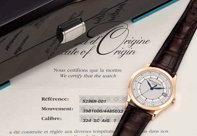 Patek Philippe, 'A fine and very attractive pink gold wristwatch with center seconds, date, certificate and box', 2009, Phillips
