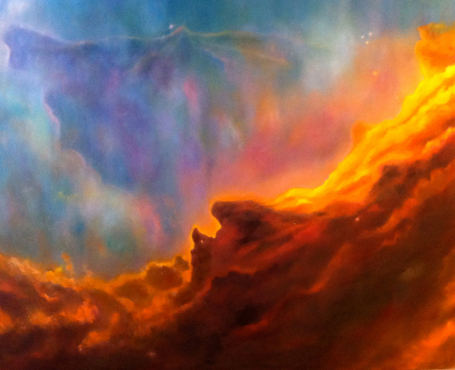 Arica Hilton, 'Swan Nebula', 2010, Painting, Oil and mixed media on canvas, Hilton Asmus