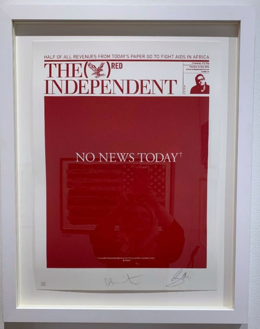 , 'NO NEWS TODAY*...*Just 6,500 Africans died today as a result of a preventable, treatable disease.,' 2008, Alpha 137 Gallery