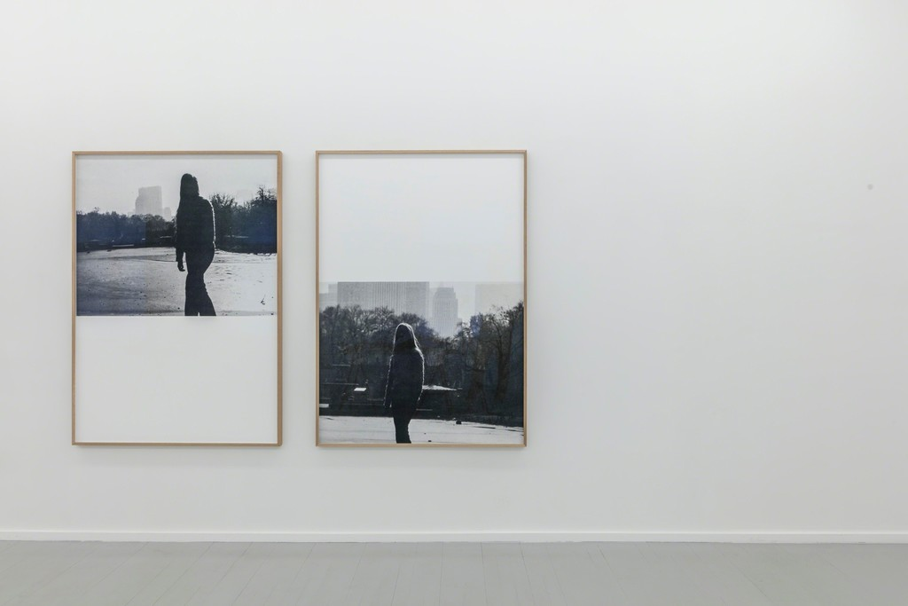 Eline Mugaas, distant, 2017, archival inkjet print, 155 x 110 cm, Edition 5; up close, 2017, archival inkjet print, 155 x 110 cm, Edition 5. 'This is a Song' Exhibition, Galleri Riis, Oslo, 2017