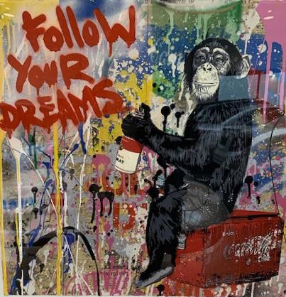 Mr. Brainwash, 'follow your dreams', 2018, Kunzt Gallery