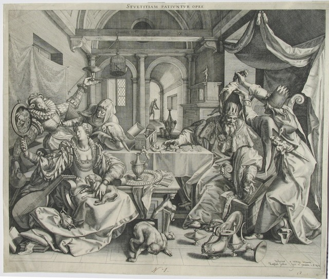 , 'Mankind before the Last Judgement,' 1581, Jan Johnson Old Master & Modern Prints