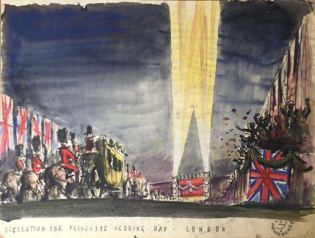 , 'Decoration for Royal Wedding, London,' 1947, Childs Gallery