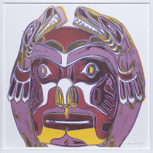Andy Warhol, 'Northwest Coast Mask', 1986, Print, Screenprint in a unique colour combination., Sims Reed Gallery