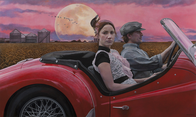 Andrea Kowch, 'Chasing the Moon - Limited Edition Hand Signed Print', 2019, RJD Gallery