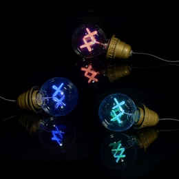 Standard Lightbulbs (Red, Purple, & Green)