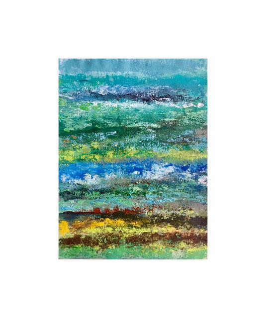 , 'Blue-Green obsession III (Framed 11x14),' 2017, Yi Gallery