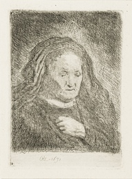 The Artist's Mother with Her Hand on her chest