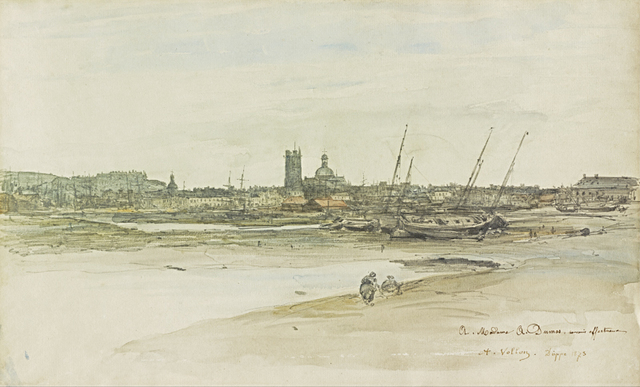 , 'View of Dieppe Harbor,' 1873, The Frick Collection
