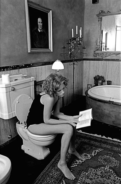 Ferdinando Scianna, 'Girl Reading in Bathroom, Milan, Italy ', 1997, Photography, Magnum Photos