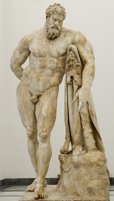 'The Farnese Hercules, copy of The Weary Hercules by Lysippos', 3rd century B.C., Sculpture, Marble, Art History 101