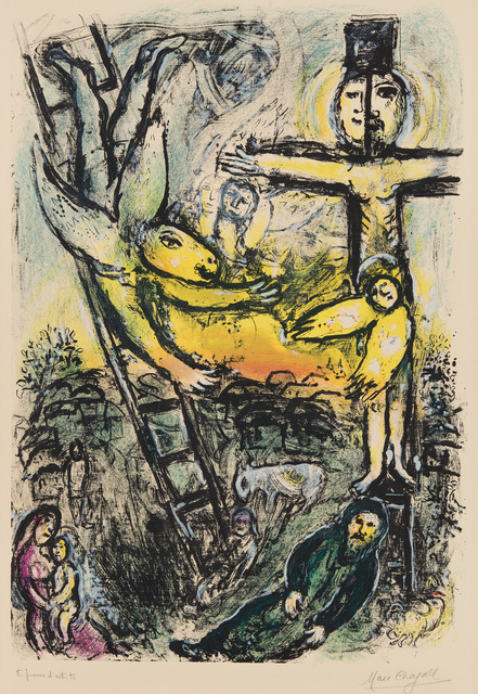 Marc Chagall, 'Vision de Jacob (Jacob's Vision)', 1971, Print, Lithograph in colors, on Arches paper, with full margins., Phillips