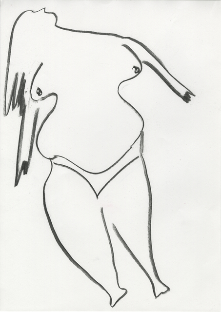 ", 'Preparatory Sketch for ""Puddle Ladies"",' 2018, Ellen de Bruijne Projects"