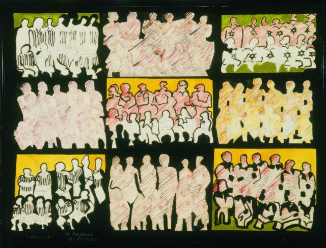 , 'Os 99 Heróis do Estádio,' 1965, Museu de Arte Moderna (MAM Rio)