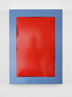 Angela de la Cruz, 'Peel (Red -Blue)', 2018, Wetterling Gallery