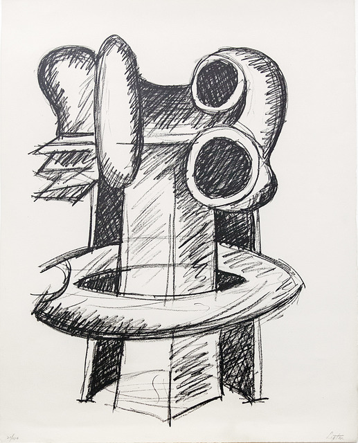 Seymour Lipton, 'Oracle: Study for Clairvoyant', 1969, Print, Lithograph on wove paper, Friends Seminary Benefit Auction
