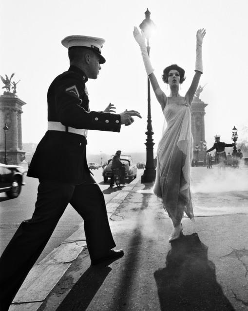 , 'Simone + marines, Pont Alexandre III, Paris ( Vogue) ,' 1960, Galerie de la Béraudière