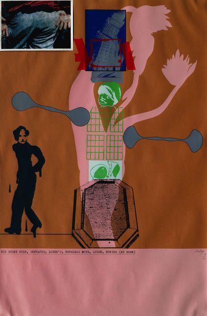 R. B. Kitaj, 'Mahler Becomes Politics, Beisbol', 1964-7, Roseberys