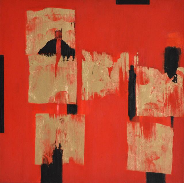 , 'Red and Gold,' 2015, Carter Burden Gallery