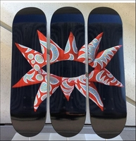 "Yayoi Kusama, ""With All My Flowering Heart"", Limited Edition Skate Deck Triptych"