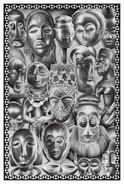 Tsham, 'Beautés africaines', 2016, Africa Bomoko