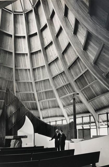 Pedro E. Guerrero, 'United Church of Rowayton, Interior with Josesph Salerno, Rowayton, CT (Joseph P. Salerno, Architect)', 1962, Edward Cella Art and Architecture