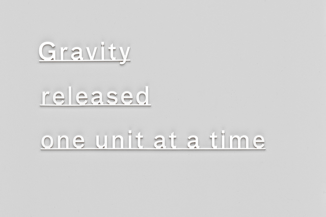 , 'Gravity released one unit at a time,' 2015, James Cohan