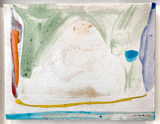 Helen Frankenthaler, 'Thanksgiving Day ', 1973, Painting, Unique painting on ceramic tile, Bernard Jacobson Gallery