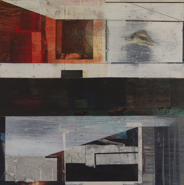Teresa Booth Brown, 'Marginalia', 2014, Painting, Collage and oil on panel, Michael Warren Contemporary