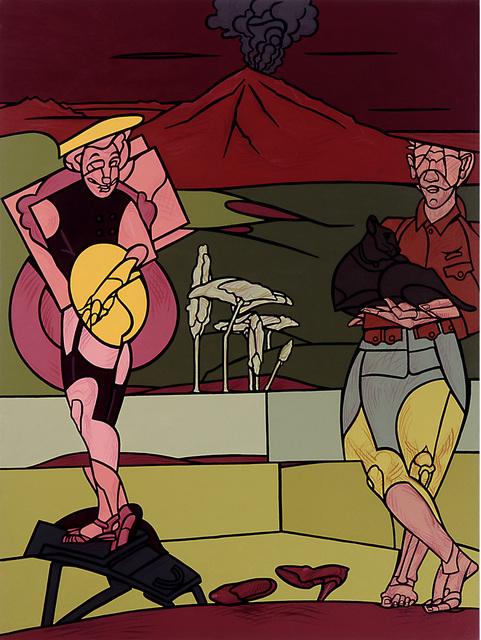 Valerio Adami, 'Vulcano con figure ', 1998, Galleri GKM