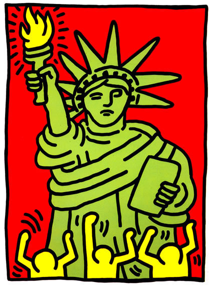 Keith Haring, 'Statue of Liberty', 1986, OSME Fine Art